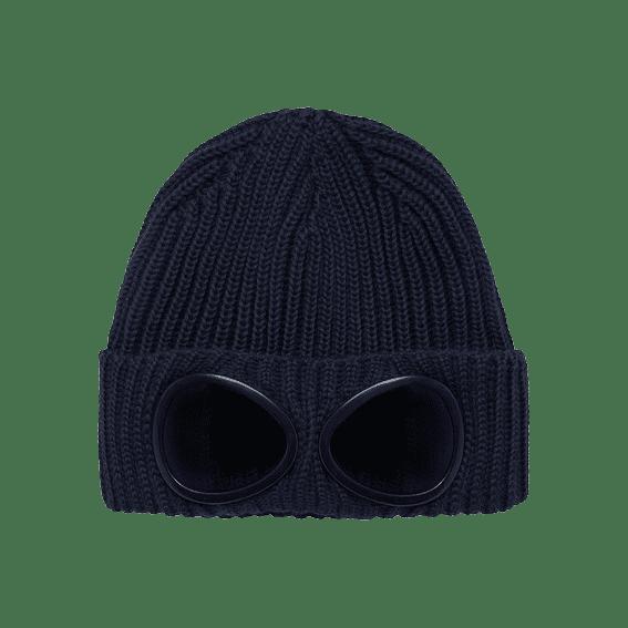 Cabinero Stiles Berlin C.P.Company Goggle Beanie Hat in Blau