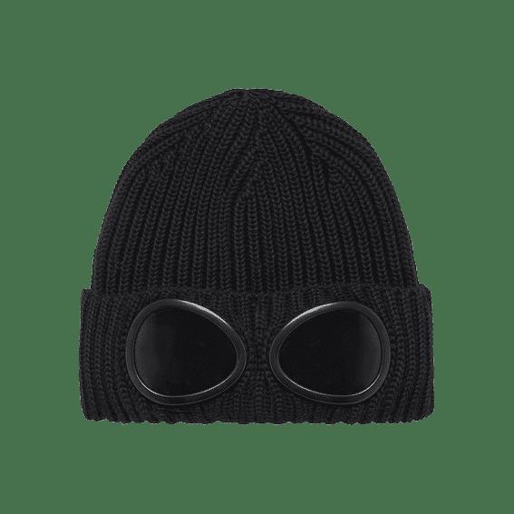 Cabinero Stiles Berlin C.P.Company Goggle Beanie Hat in Schwarz