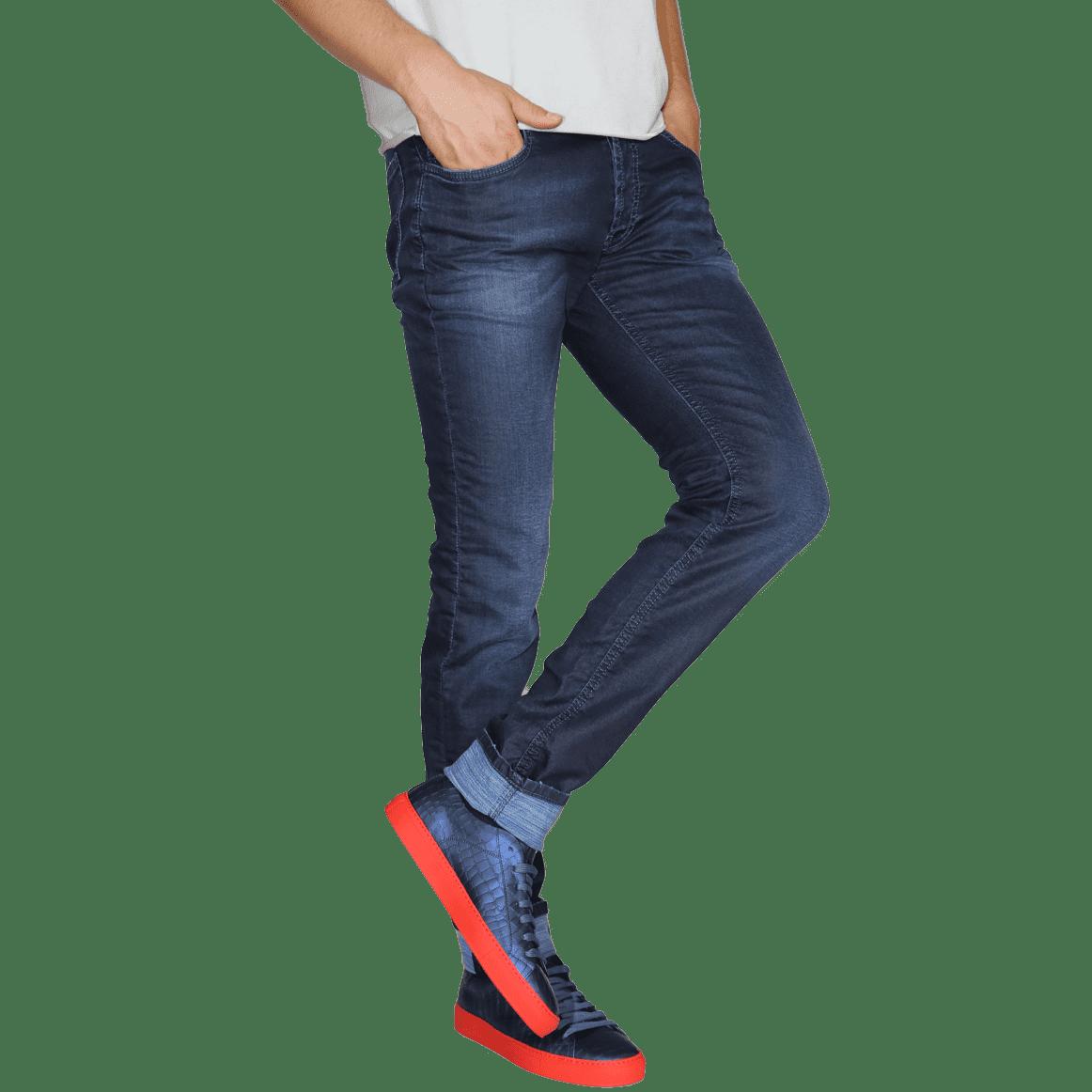 Cabinero Stiles Berlin PG Enjoy Jeans, Herrenhosen, made in Italy AW17-18 denim Blue-Blue 17