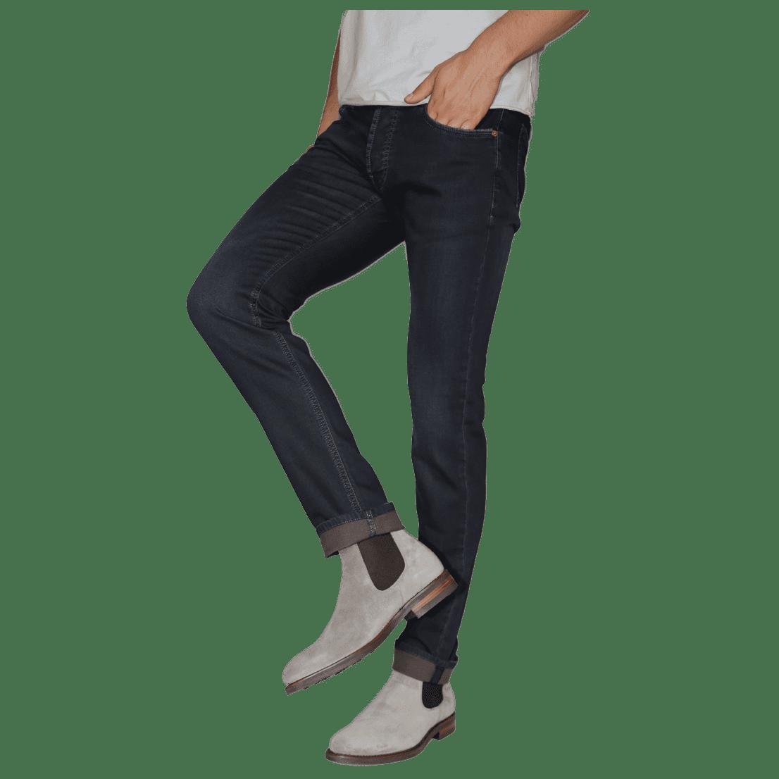 Cabinero Stiles Berlin PG Enjoy Jeans, Herrenhosen, made in Italy AW17-18 denim Blue-Brown
