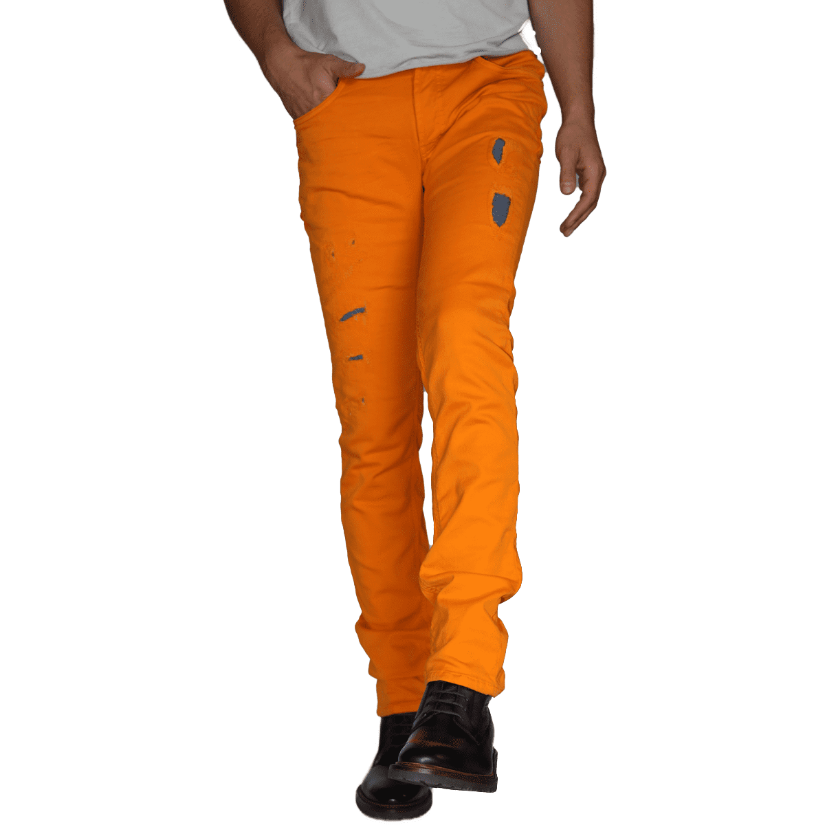 Cabinero Stiles Berlin PG Enjoy Jeans, Herrenhosen, made in Italy AW17-18 denim curry blue 1