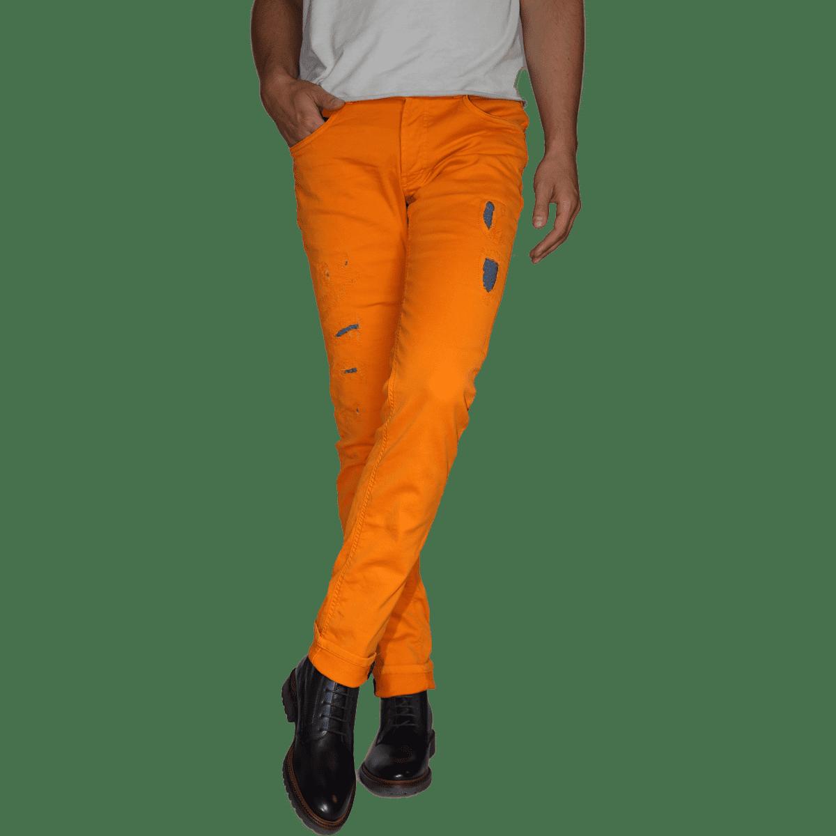 Cabinero Stiles Berlin PG Enjoy Jeans, Herrenhosen, made in Italy AW17-18 denim curry blue 3