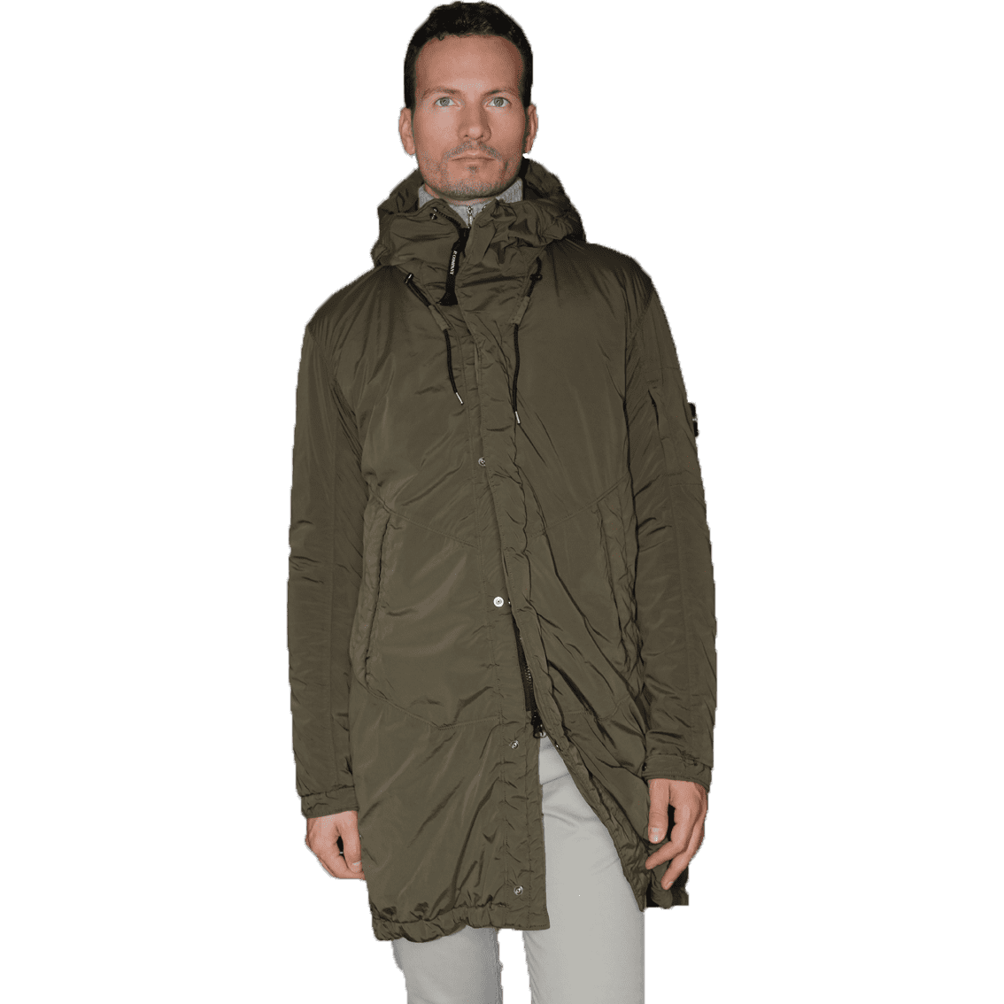Cabinero Stiles Herrenmode Onlineshop C.P.Company Parka in Olive #03CMOW005A-001020G AW17-18