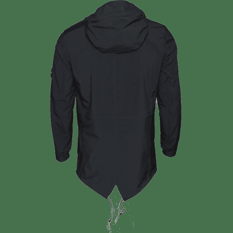 C.P. Company - Softshell Parka in Schwarz-Blau- Outerwear-Long Jacket #04CMOW030A005159A- Herren-Jacken - cp-company - www.cabinero.de 1