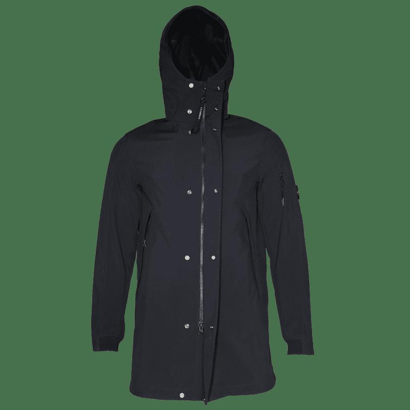 C.P. Company - Softshell Parka in Schwarz-Blau- Outerwear-Long Jacket #04CMOW030A005159A- Herren-Jacken - cp-company - www.cabinero.de 4