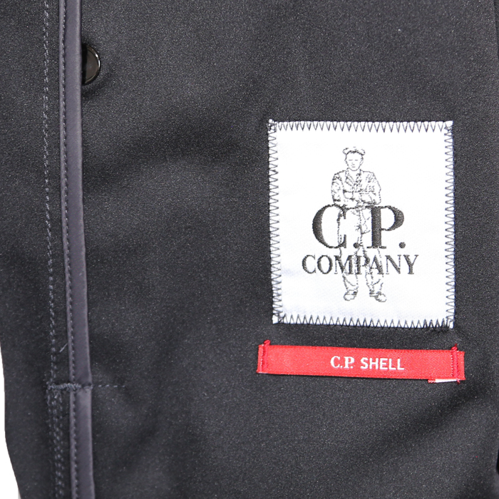 c.p. company SS18 Softshell-Short-Jacket #04CMOW029A005159A - total eclipse- www.cabinero.de