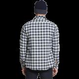 Dstrezzed Shirt Jacket Slub Check Flanell Offwhite www.cabinero.de Berlin-Mitte