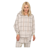 Elias Rumelis Ladies Vicky soft oversize Hoody taupe check New Collection 2020-2021 www.cabinero.de