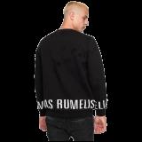 Elias Rumelis men's destroyed Sweater Hendrik black www.cabinero.de Berlin